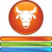 Taurus web button — Stock Vector