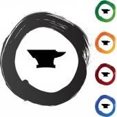 Anvil icon button — Stockvector