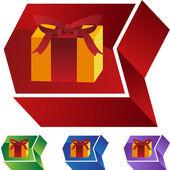 Ikona webové dárek — Stock vektor