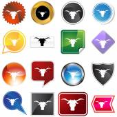 Steer Icon Set — Stock Vector