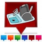 Kitchen Sink Gemstone Button Set — Stock Vector #64191385