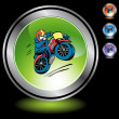 Motorcycle Stunt web icon — Stock Vector #64192147