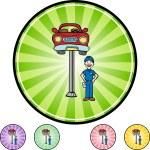 Car Repair and mechanic — Stock Vector #64193651