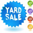 Yard Sale colorful icons — Stock Vector #64194683