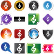 Music Note web button — Stock Vector #64196401