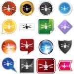 Celing fan icon set — Stock Vector #64196657