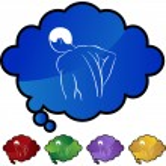 Back Pain Icon web icon — Stock Vector #64197255