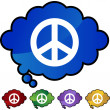 Peace sign web button — Stock vektor #64197349