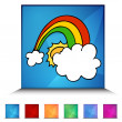 Lucky Rainbow Shiny Button Set — Stock Vector #64197455