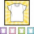 Wit Shirt pictogram — Stockvector  #64197667