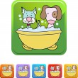Puppy Bath web icon — Stock Vector #64198429