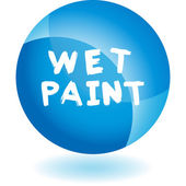 Wet Paint signs — Stock Vector