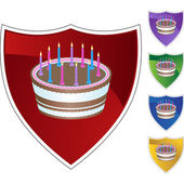 Birthday Cake colorful icons — Stock Vector