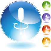 Screwdriver Crystal Icon Set — Wektor stockowy