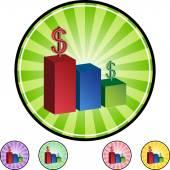 Bar Chart web icon — Stock Vector