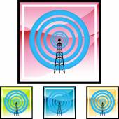 Signal Tower web icon — Stock Vector