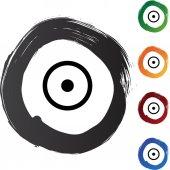 Sun web button — Stockvektor