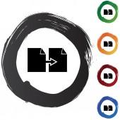 Copy Paper button set — Stock Vector