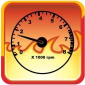 Tachometer web icon — Vector de stock