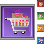 Shopping Cart web icon — Stock Vector