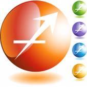 Sagittarius Zodiac Symbol — Stock Vector