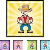 Cowboy web icon — Stock Vector