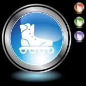 Rollerblade icon button — Stock Vector
