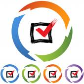 Icône web CheckBox — Vecteur