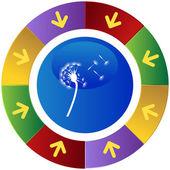 Dandelion web icon — Stock Vector