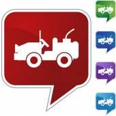 Jeep  web icon — Stockvector