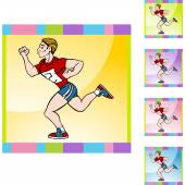 Runner man icon — Stock Vector