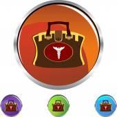 Medical Bag web icon — Vector de stock