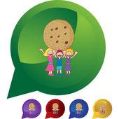 Giant Cookie web icon — Stock Vector