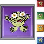 Frog web button — Vetor de Stock