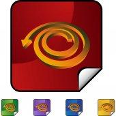 Spiral Arrow web icon — Stock Vector
