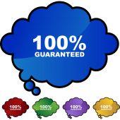 100 percent Guaranteed — Stock Vector