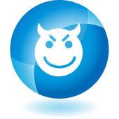 Evil Grin Emoticon — Cтоковый вектор