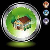 Church web button — Stock Vector