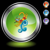 Swimming Cat web icon — Stock Vector