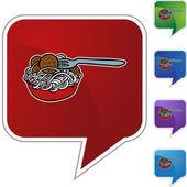 Spaghetti web icon — Stock Vector