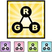 RGB Color Spectrum button — Stock Vector