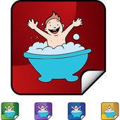 Baby Bath web icon — Stock Vector