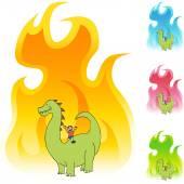 Dinosaur web icon — Stock Vector