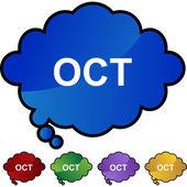 October web button — Stock Vector