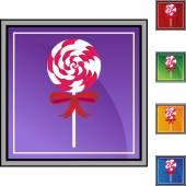 Lollipop candy icon — Stock Vector