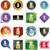 Surgeon web button set — Stock Vector