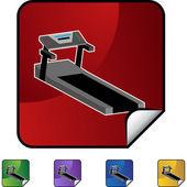 Treadmill web icon — Stock Vector