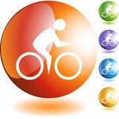 Cycling Swimmer web — Wektor stockowy