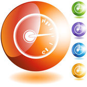 Temperature Gauge web icon — Stok Vektör
