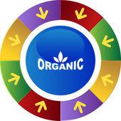 Organic web button — Stock Vector